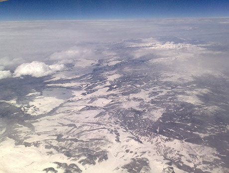 Rocky Mountains from the plane