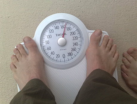 Paul's weight at the start