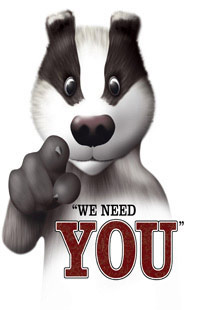Badgers need you poster