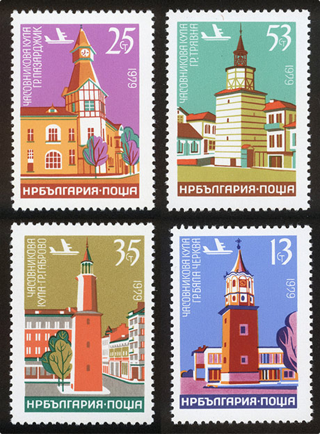 Stefan Kanchev - buildings stamps