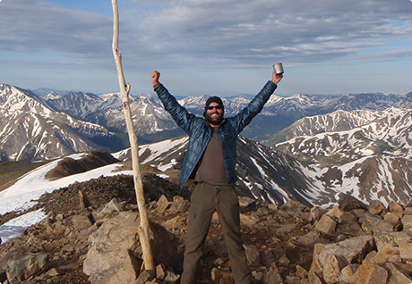 Top of Mount Elbert