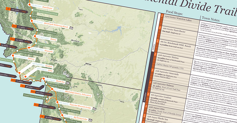 infographic of the Continental Divide Trail route