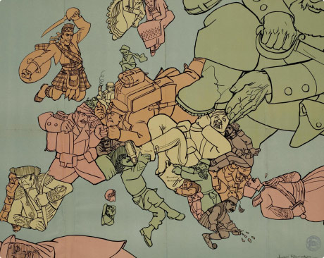 Cartoon Political Maps of Europe