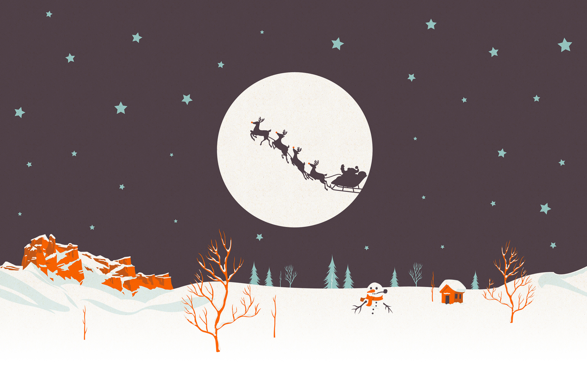 Christmas Desktop Wallpaper Illustration