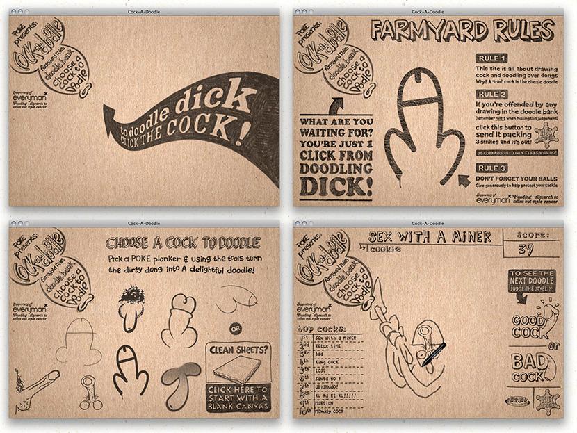 cock-a-doodle - lots & lots of dick doodles