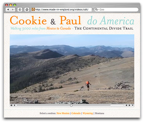 Preview of Cookie & Paul do America - video documentary site.
