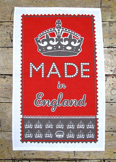 Made in England tea towel