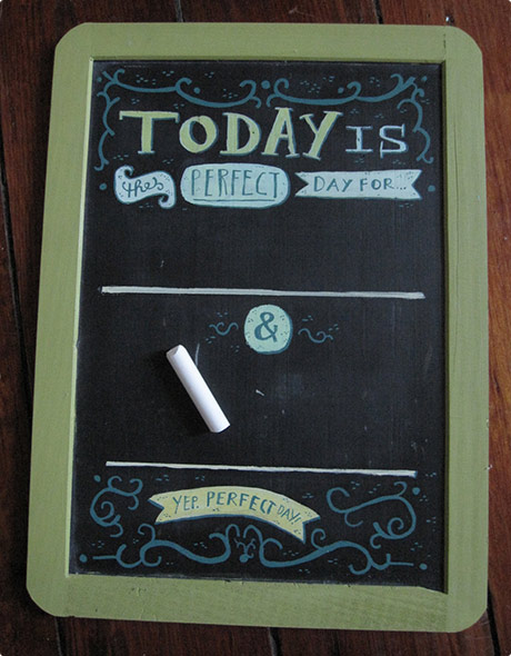 Mini Goals Chalkboard