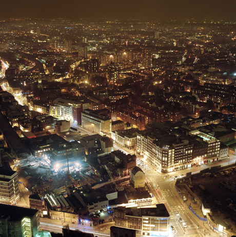 View of Shoreditch from the top of Bishopsgate tower