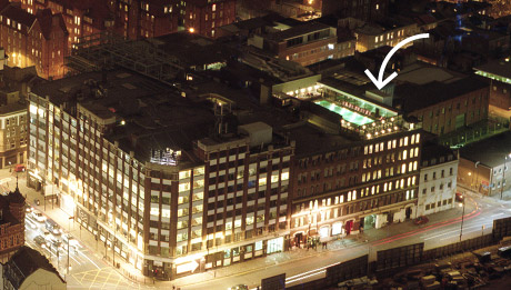 View of Shoreditch House swimming pool