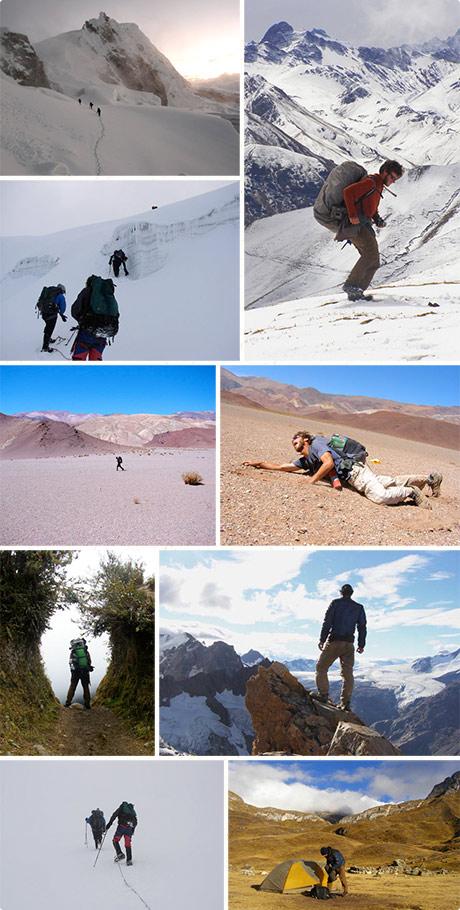 Andes traverse photos
