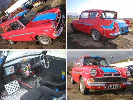 Ford Anglia 105E Rally Car