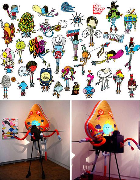 Examples of Merijn Hos illustration work