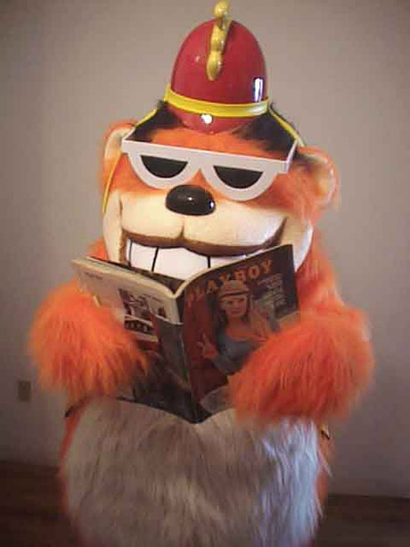 bingo from the banana splits reading playboy magazine