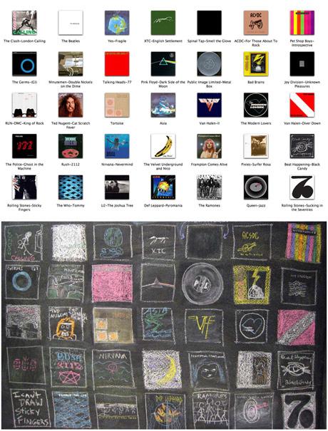 Chalk Board Album Covers