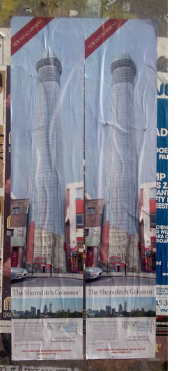 colossus, a huge penis shaped skyscraper in shoreditch