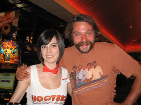 cookie at hooters casino with hooters girl