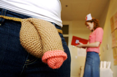 crochet strap on cock