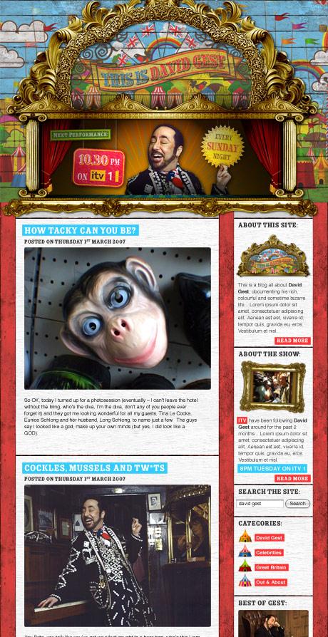 Screen grab of David Gest's Blog
