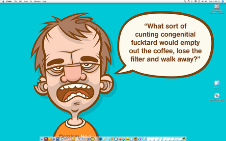 Weekly Desktop Part 22 - Cartoon angry man