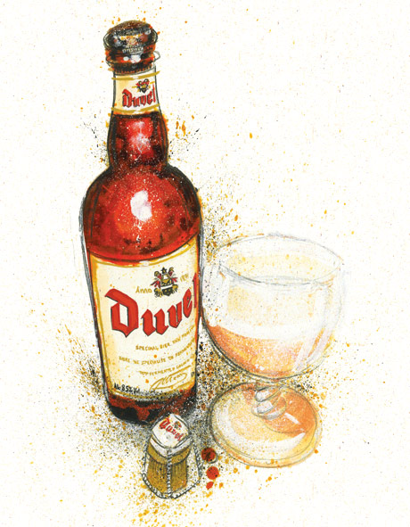 duvel bier illustration
