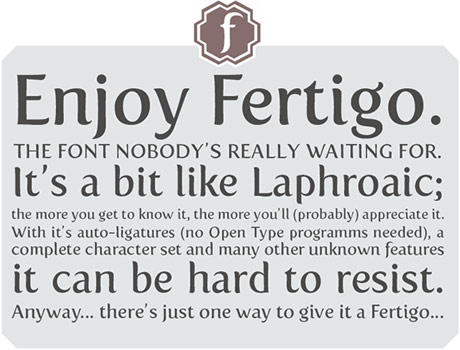 sample of fertigo font