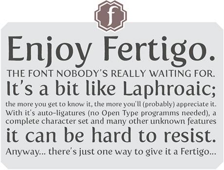sample of fertigo font