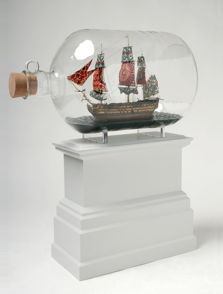 Ship in a bottle, concept for the 4th plinth