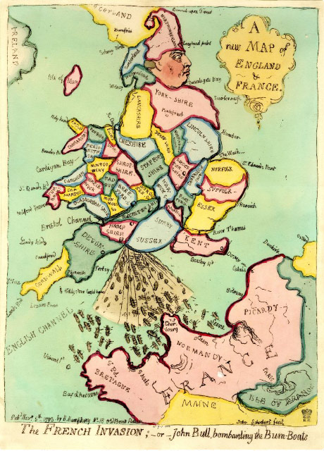 The French Invasion, or John Bull, bombarding the Bum-boats