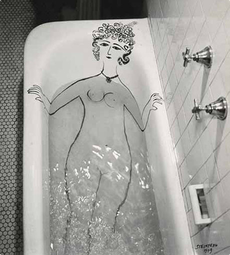 Saul Steinberg Girl in Bathtub