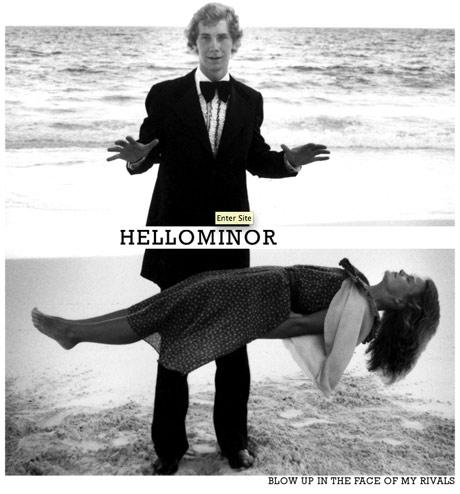 Hello Minor enter site graphic