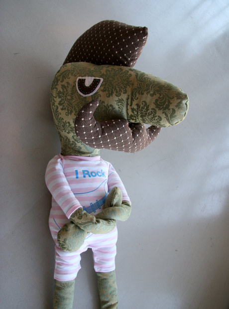 I Rock soft toy made out of baby clothes