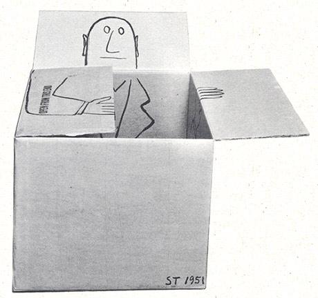 Saul Steinberg in a box