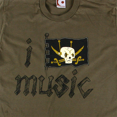 i pirate music t-shirt