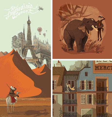 Illustration work of Chris Turnham