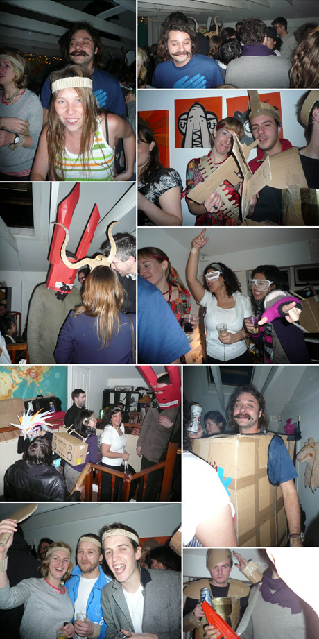 Cardboard party photos