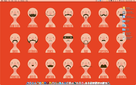 Different moustache styles illustration