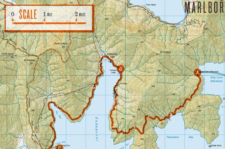 Te Araroa Route map