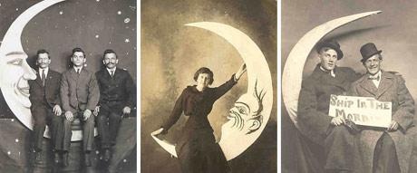 Paper moon portraits