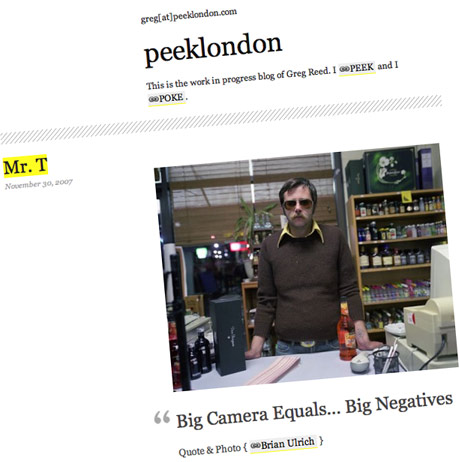 peeklondon blog by Greg Reed