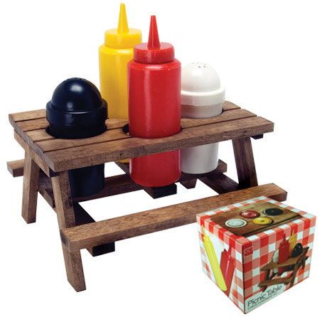 picnic table condiments