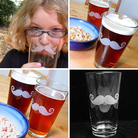 Moustache Pint Glass