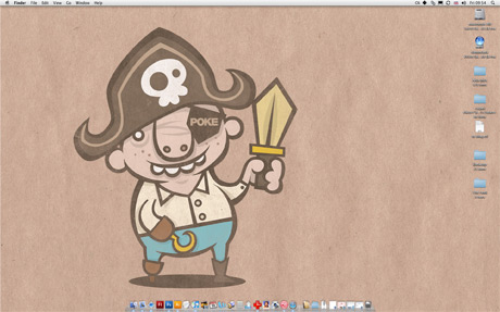 cartoon pirate desktop