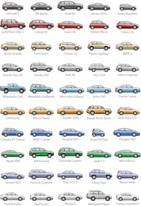 pixel car icons