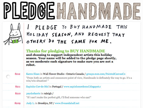 Pledge Handmade this Christmas