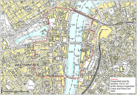 London no protest zone