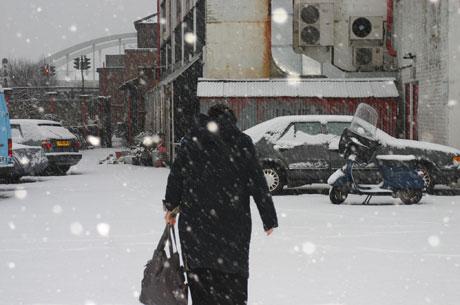 Snowing Shoreditch Sachi