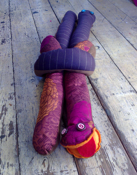 Knotted snake draft excluders