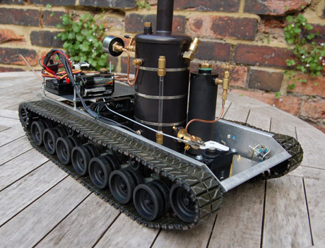 remote control steam powered tank