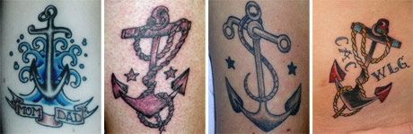 vintage anchor tattoos